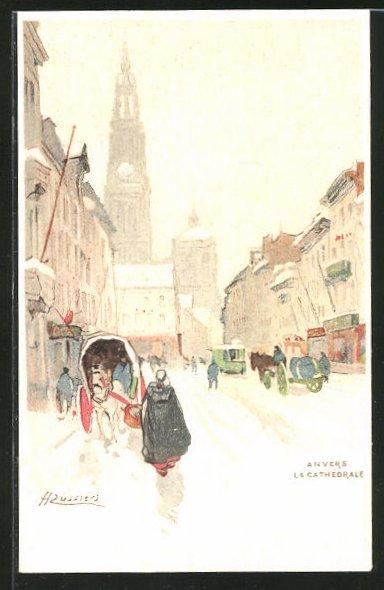 Künstler-AK Henri Cassiers: Anvers, La Cathédrale