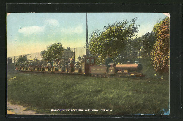 AK Rhyl, Miniature Railway Train, Kleinbahn
