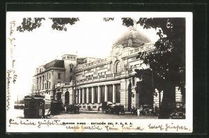 AK Buenos Aires, Estación del F. C. C. A., Bahnhof