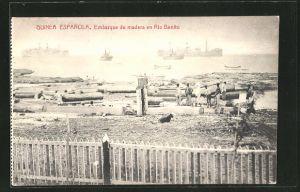AK Guonea, Embarque de madera en Rio Benito