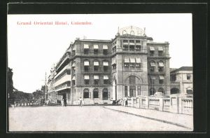 AK Colombo, Grand Oriental Hotel und Brücke