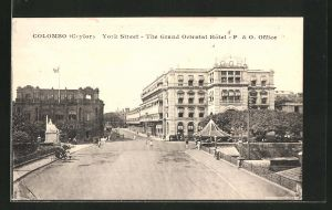 AK Colombo, York Street, the Grand Oriental Hotel & O. Office