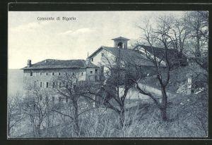 AK Bigorio, Blick auf das Kapuzinerkloster Bigorio
