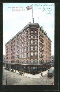 AK Providence, RI, Narragansett Hotel, Strassenbahn