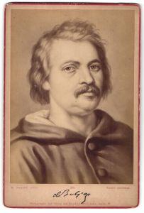 Fotografie Sophus Williams, Berlin-W, Portrait Honoré de Balzac von E. Hader