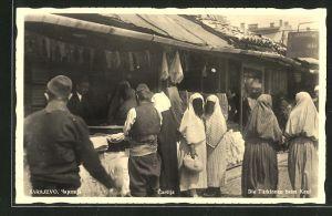 AK Sarajewo, Carsija, Türkinnen beim Einkaufen