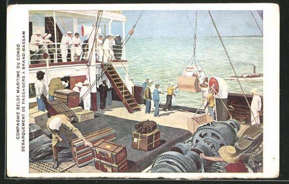 AK Grand-Bassam, Compagnie Belge maritime du Congo, Débarquement de Passagers