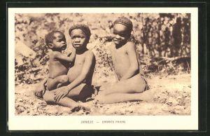 AK Sambia / Zambéze, Enfants Paiens