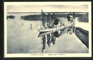 AK Sambia, Barque sur le Zambèze