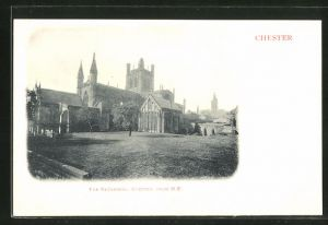 AK Chester, The Cathedral, Blick zur Kirche