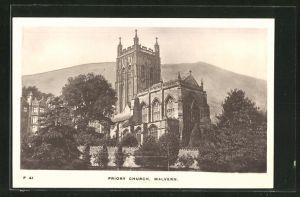 AK Malvern, Priory Church, Blick zur Kirche
