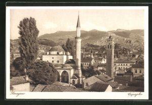 AK Sarajewo, Begova dzamija, Panorama mit Moschee