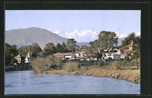 AK Kathmandu, Pasupathinath Temple and the Ganesh Himal Mountains