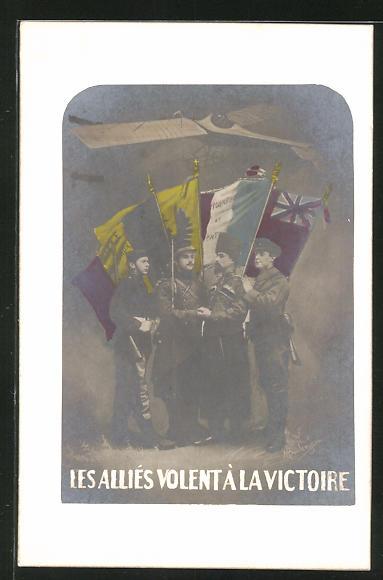AK Les Alliés volent à la Victoire, Propaganda Entente