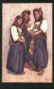 AK Bosnische Frauen in Volkstracht