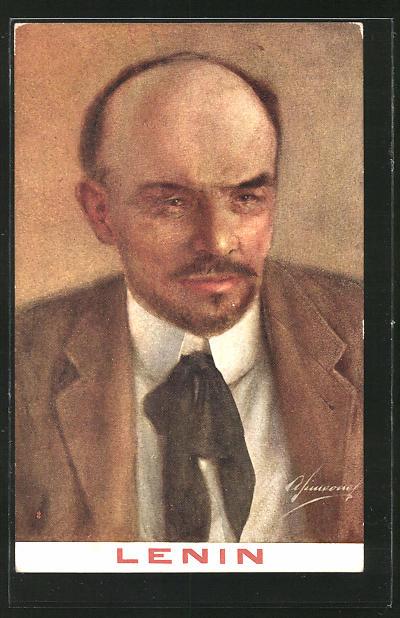 Künstler-AK Vladimir Ilic Ulianoff, Lenin