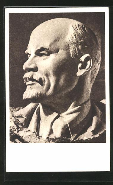 Künstler-AK Lenin-Büste, Vladimir Iljic Lenjin
