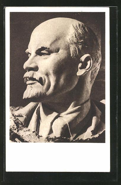 Künstler-AK Vladimir Iljic Lenjin, Büste von Lenin