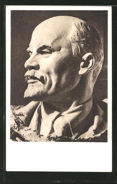 Künstler-AK Vladimir Iljic Lenjin, Büste des Sozialisten Lenin
