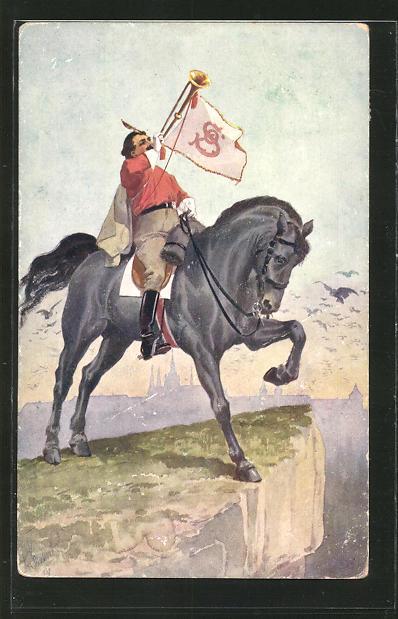AK Sokol, Reiter bläst auf einer Fanfare