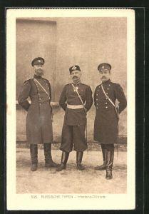 AK Russische Inafnterie-Offiziere