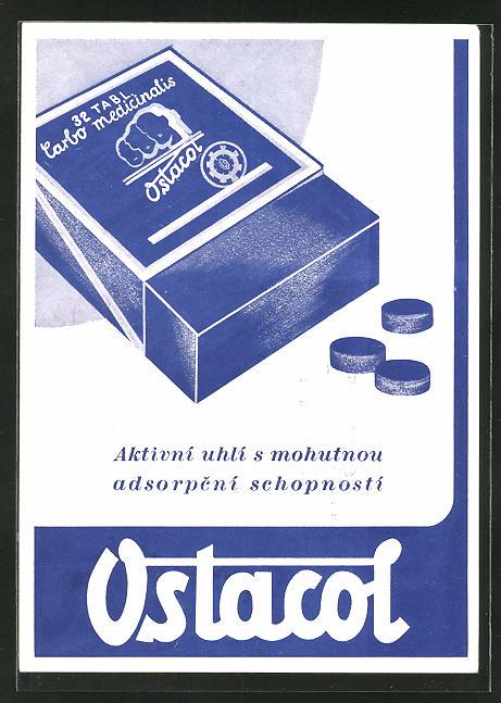 AK Medikament Ostacol, aktivni uhli s mohutnou adsorpcni schopnosti