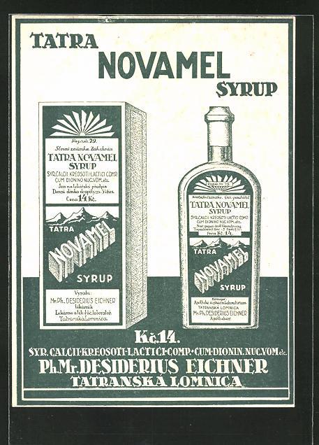 AK Medikament Tatra Novamel Syrup