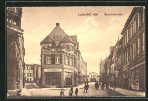 AK Euskirchen, Bahnhofstrasse mit Geschäften