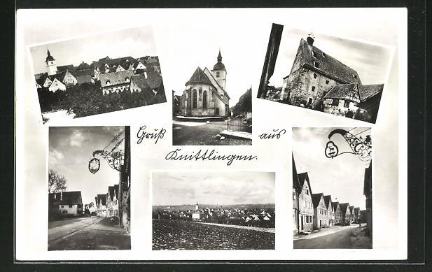 AK Knittlingen, Kirche, Gebäudeansicht, Strassenpartien, Ortsansichten