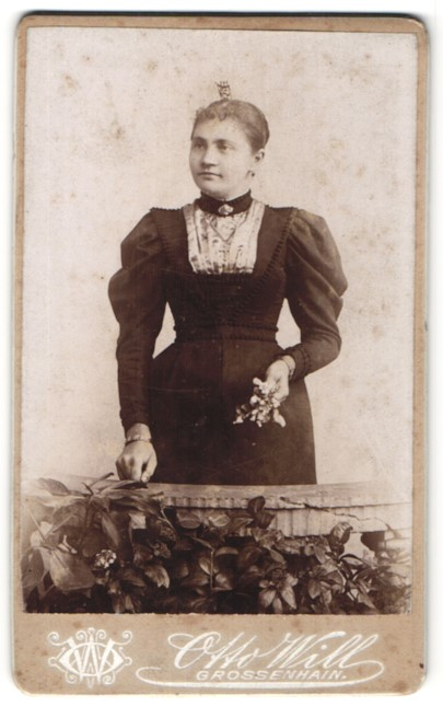 Fotografie Otto Will Grossenhain Portrait Fraulein In Festlicher