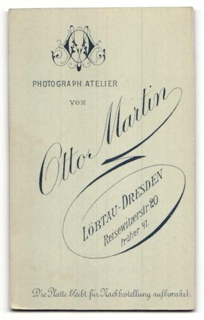 Fotografie Otto Martin Lobtau Dresden Portrait Fraulein In