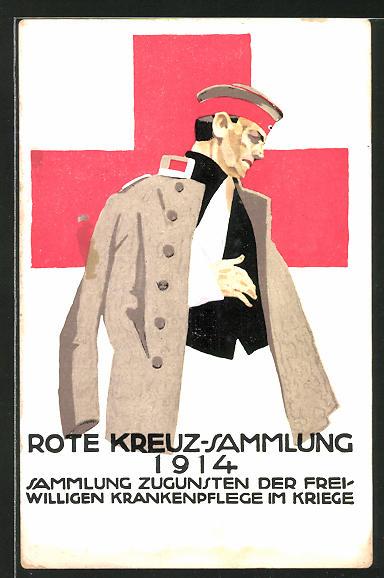 Künstler-AK Ludwig Hohlwein: Rotes Kreuz-Sammlung 1914