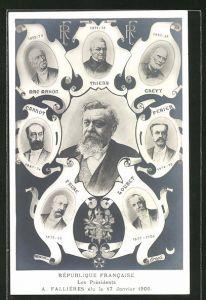 AK République Francaise, Les Présidents A. Falliéres élu le 17 Janvier 1906