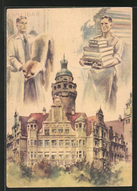 AK Erste Leipziger Friedensmesse, DDR-Propaganda