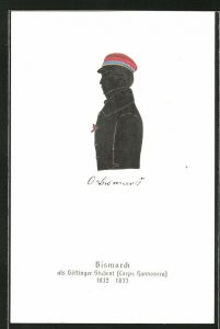 AK Bismarck als Göttinger Student, Corps Hannovera, 1832-1833