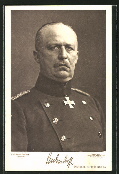 AK Erich Ludendorff mit Eisernem Kreuz