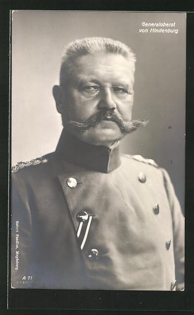 AK Generalobert Paul von Hindenburg im Portrait