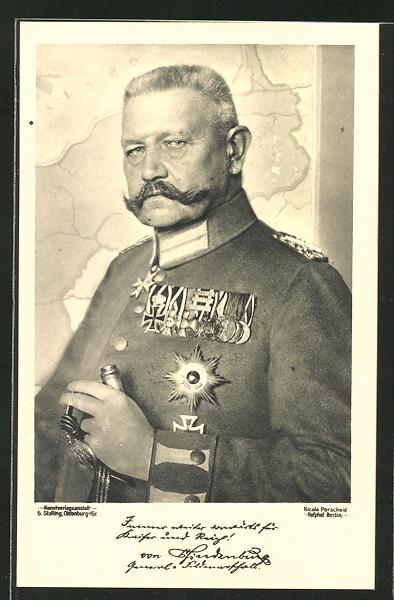 AK Paul von Hindenburg mit Orden