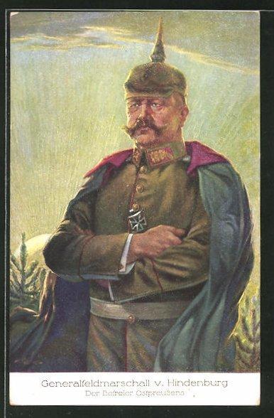 AK Generalfeldmarschall Paul von Hindenburg in Felduniform