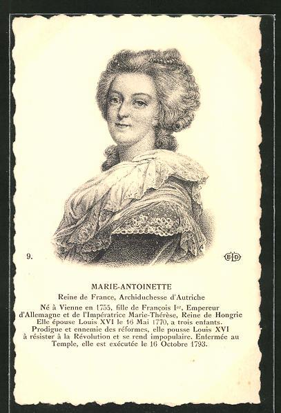 AK Portrait von Marie-Antoinette von Frankreich