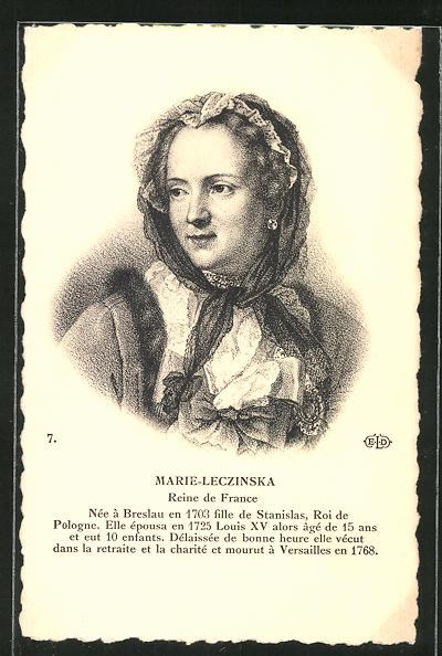 AK Bildnis von Marie-Leczinska von Frankreich