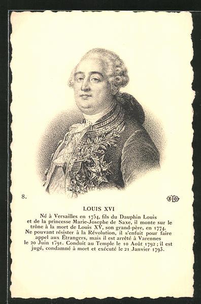 AK Louis XVI von Frankreich im Portrait