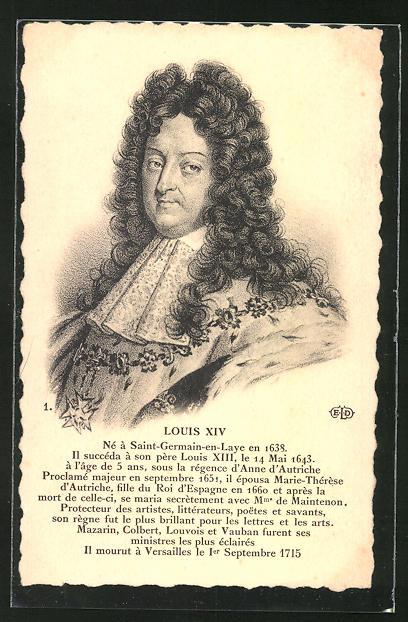 AK Louis XIV von Frankreich