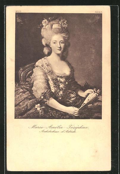 AK Marie-Amelie-Josephine von Frankreich im Portrait