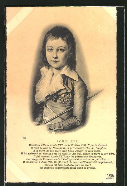 AK Louis XVII von Frankreich im Portrait