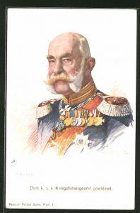 AK Portrait von Kaiser Franz Josef I. von Österreich