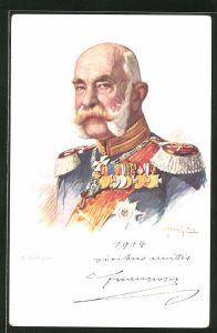 AK Kaiser Franz Josef I. von Österreich im Portrait