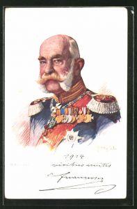 AK Portrait von Kaiser Franz Josef I. von Österreich in Uniform