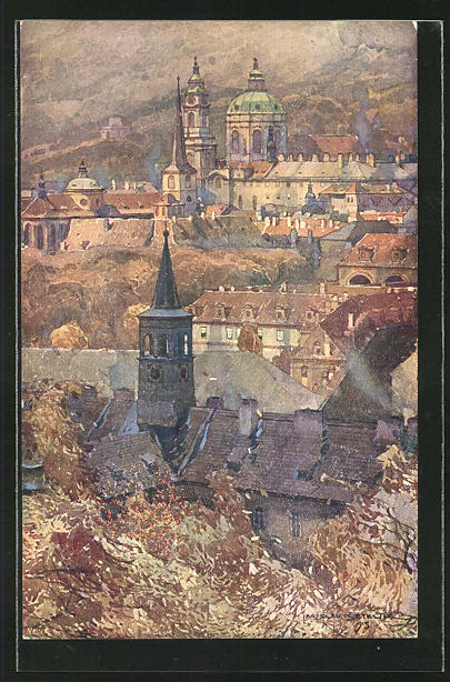 Künstler-AK Jaroslav Setelik: Prag / Praha, Mala Strana