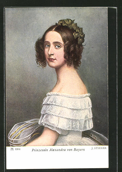 Künstler-AK Prinzessin Alexandra von Bayern